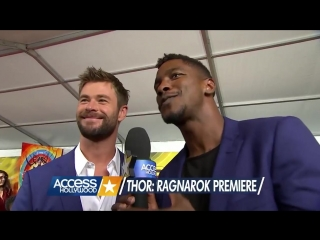 Chris Hemsworth Joins Co-Stars At Thor Ragnarok Premiere