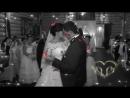 свадебный букет и украшение стола живыми цветами