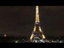 Эйфелева башня загорается огнями каждый час на 5 минут.