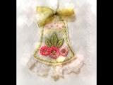 Handmade by Nadya NLA. Декоративное украшение. Колокольчик с ручной вышивкой.