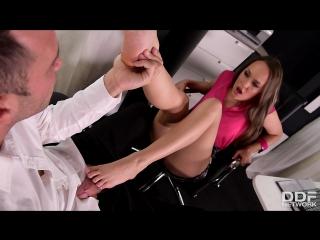 Blue Angel (3D Foot Fuck: Blonde Enjoys Foot Licking in Office)[2017, Hardcore, foot fetish, leg fetish, footjob, 1080p]