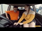 FakeDrivingSchool Estella Bathory Cute BBW crashes the car for Real New Porn 2018