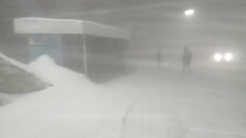 Камчатка 22.01.18 снегопад,молния,гром
