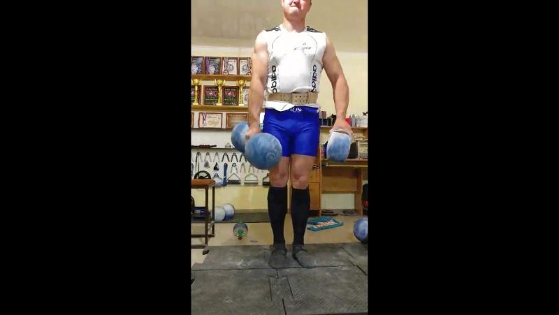 Виталий Бобырев Гантель Инча(78кг) Блоб(24кг)