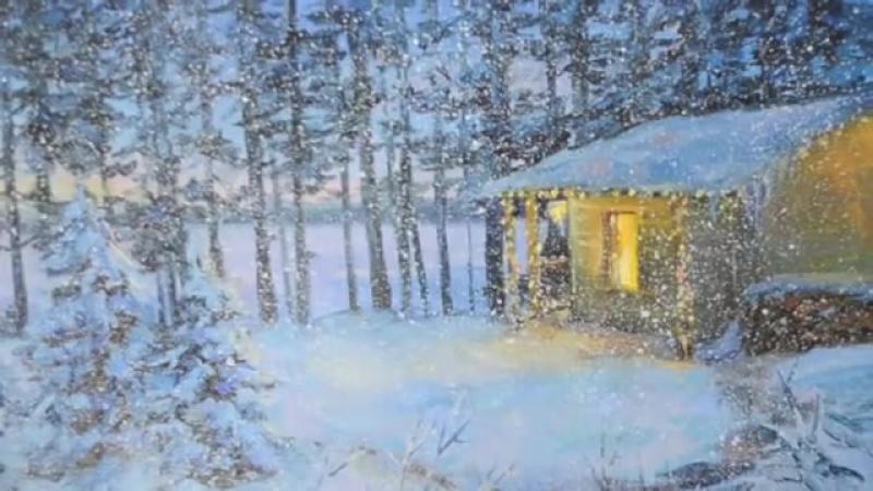 9 Как нарисовать снегопад. Марина Трушникова