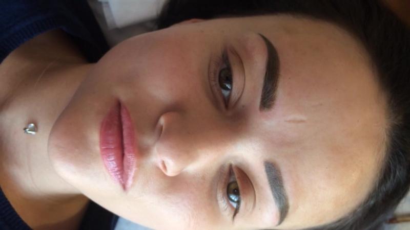 Перманентный макияж бровей. Теневая