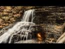 Негаснущий огонь под водопадом невероятное зрелище