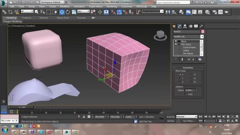 [Уроки 3Ds Max от Ивана Никитина] Модификаторы объектов - Урок 3D Max - Бесплатный курс Быстрый старт в 3Ds Max (день 2)