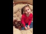 Борисова Каролина 5 лет, гр. Радуга . Автор Саша Черный , Стих про мишку