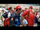 Встреча юношеской сборной России из Болгарии