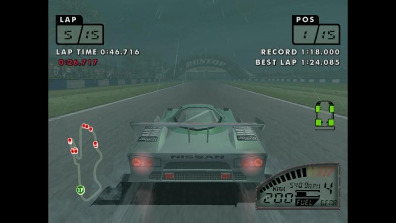 Игра: «Lemans 24 Hours». Платформа: Sega Dreamcast. Этап: WINTER CHALLENGE. 08 (END)