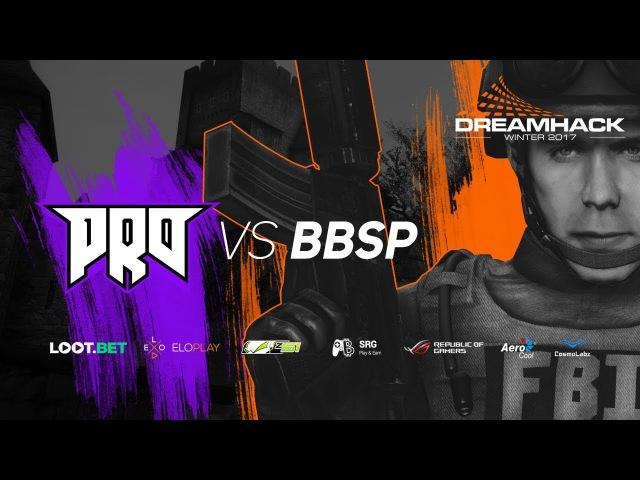 Pro100 vs BBSP » Dreamhack Winter 2017 Qualifiers