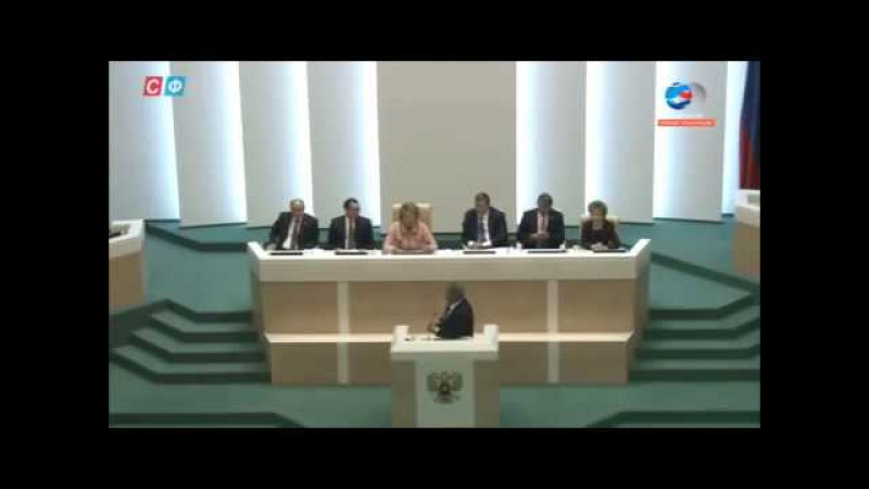 Выступление Михаила Ковальчука на Совете Федерации. Элита выводит популяцию служебных людей.