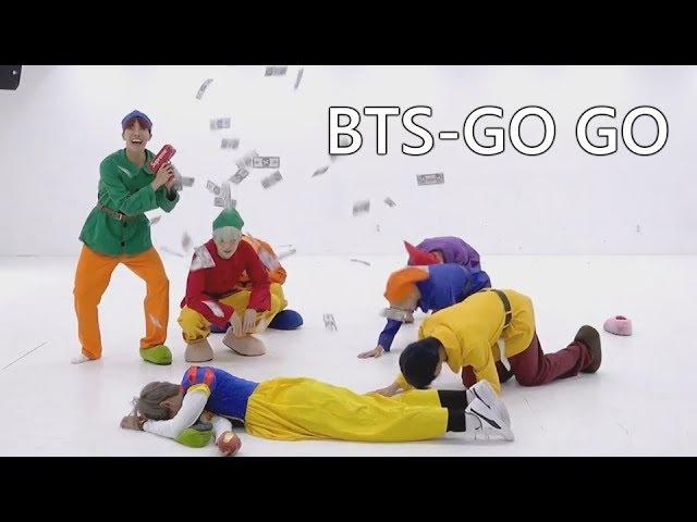 То, чего вы не замечали в BTS - GO GO Dance Practice (Halloween ver.)