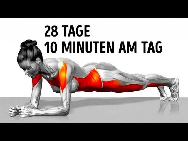 7 einfache Übungen, die dich in 4 Wochen in Form bringen