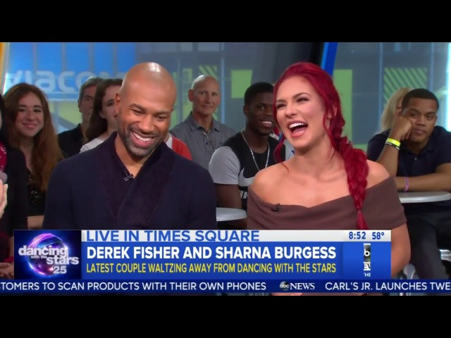 Sharna and Derek ~ DWTS 25, Exit Interview on GMA