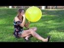"Looner Campus: Kim B2p Old Tuf-tex 17"" (balloon pop,Girl popping balloons)"