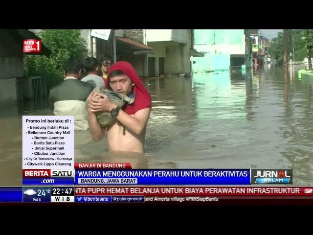 Banjir di 3 Kecamatan Bandung Ganggu Aktivitas Warga
