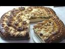 Дрожжевой пирог с грушами украшение