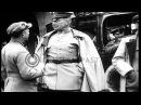 General Paul Von Hindenburg exits building; Kaiser Wilhelm II with an officer...HD Stock Footage