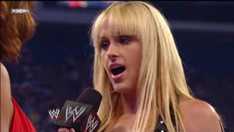 Smackdown 1 2 09 Michelle McCool attacks Eve