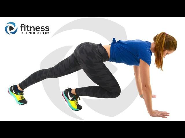 FitnessBlender - HIIT Cardio and Butt and Thigh Workout   Силовая тренировка для бедер и ягодиц ( кардио в начале видео)