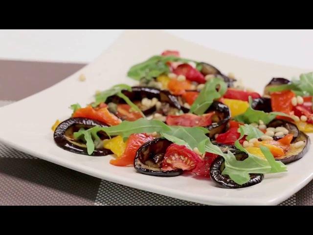 Салат из печеных овощей в итальянском стиле