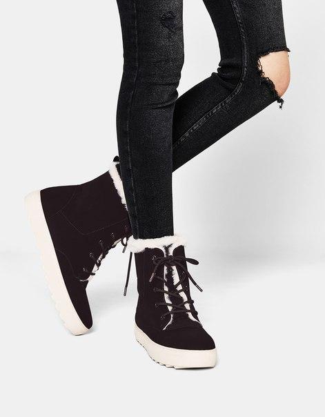 Спортивные ботинки с меховой отделкой