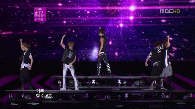 SHINee feat. LuHan (EXO-M) - Lucifer {Dance Break Remix} [without MinHo] (011012 on MBC SM Town in Seoul)
