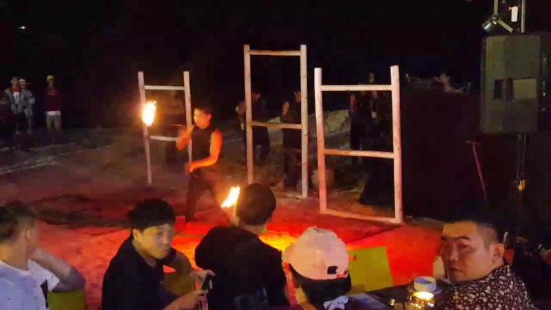 шоу трансов с огнем
