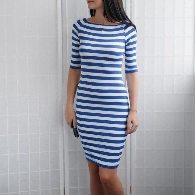 Летнее платье в морском стиле всего за 65