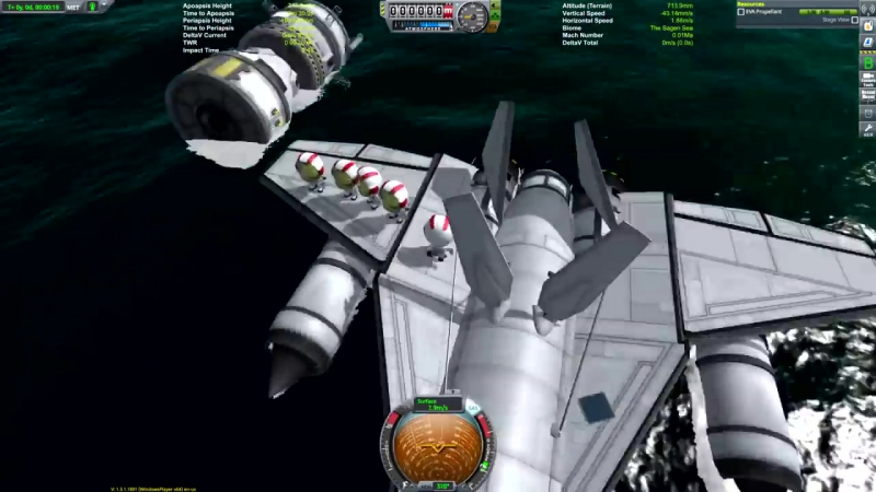 [Matt Lowne] KSP: Rescue Seaplane to LAYTHE and back!
