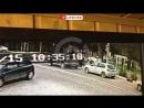 Момент столкновения двух легковушек на улице Луначарского в Геленджике попал на