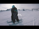 Four Year Old Snowboarder Rides With His Dad