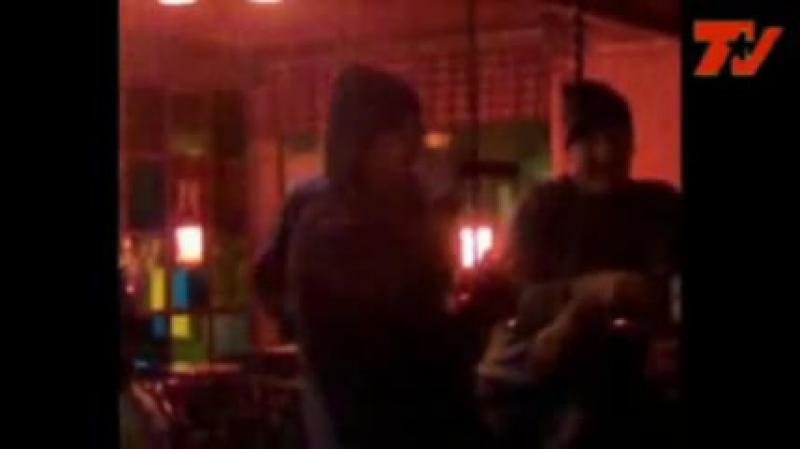 Kimi Raikkonen singing in a Karaoke