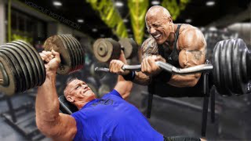Dwayne The Rock Johnson vs John Cena - Workout Motivation