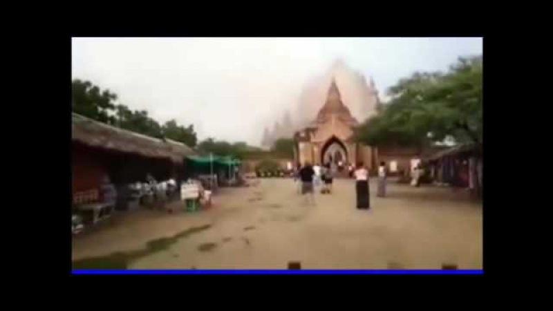 Mengerikan Detik-detik Pagoda Ditelan Bumi