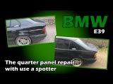 BMW E39. The quarter panel repair. Ремонт заднего крыла.