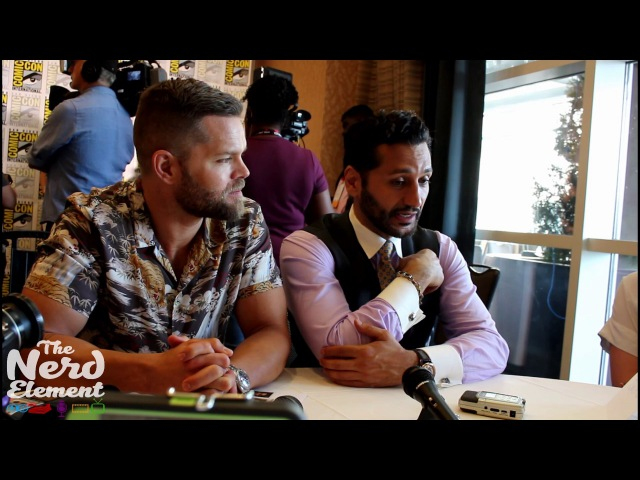 SDCC 2017 The Expanse Wes Chatham and Cas Anvar