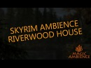 SKYRIM AMBIENCE | RIVERWOOD HOUSE | WIND, THUNDER, RAIN, RIVER, FOREST, WOODS