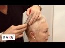 How to cut short blond hair pixie like with texturizing, thinning shears