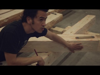 Medieval carpentry - building without nails. French Timber Framing & Scribing. Instructional video