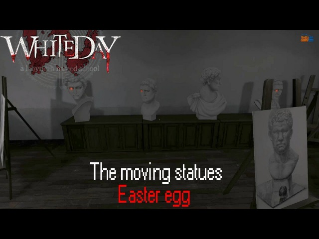 White Day: A Labyrinth Named School The moving Statues Easter egg