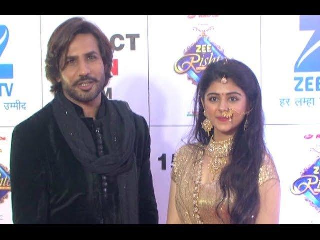 Jeet Gayi Toh Piya More Actors Krip Suri And Yesha Rughani At Zee Rishtey Awards 2017