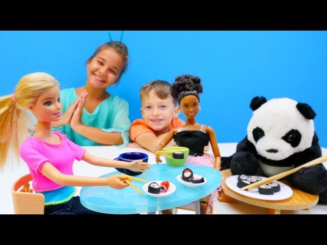 Yemek yapma oyunu ve hamuroyunları. Japon mutfağı 🇯🇵. Barbie için suşi tarifi 🍣. Kızoyunları