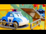Robocar Poli el juguete y Tayo el Pequeño Autobús. Vehículos de construcción: desempaque de juguetes