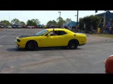 Hellcat drift burn outs at Lonestar Moparfest