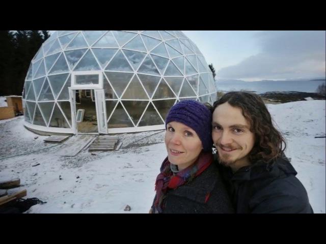 Экодом под куполом в Норвегии.