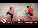 45 Min Standing Abs Low Impact Cardio Workout for Beginners - Home Ab Beginner Workout Routine