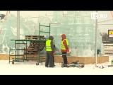 #Прямаятрансляция установки ледяных скульптур на Поклонной горе